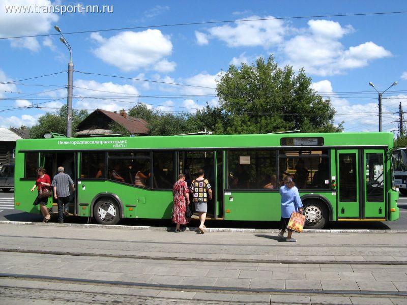 Автобус-Подвижной состав-МАЗ-103 на маршруте 90-послать открытку Транспорт Нижнего Новгорода.
