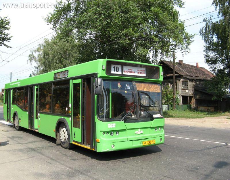 Автобус-Подвижной состав-МАЗ-103 на маршруте 10-послать открытку Транспорт Нижнего Новгорода.