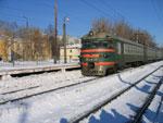 Электропоезд Заволжье - Горький на ст. Починки