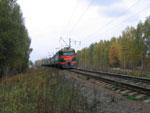 Электропоезд Горький - Арзамас неподалеку от ст. Окская