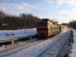 ЧС4т с пассажирским поездом Горький - Воркута