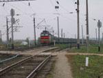 ЧС4т с пасс. поездом Адлер - Воркута на ст. Окская