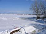 Волга зимой в районе Сормово