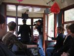Журналисты в вагоне Х